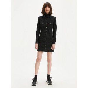 *NWT* Levi's Gia Western Dress in Black, Size S